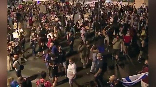 İsrail'deki eylemlerde 11'inci haftaya girildi: Netanyahu istifa sesleri yükseliyor