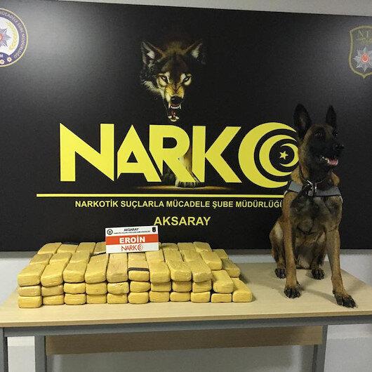 Hafif ticari araçta 49 kilo eroin ele geçirildi: 4 kişi tutuklandı