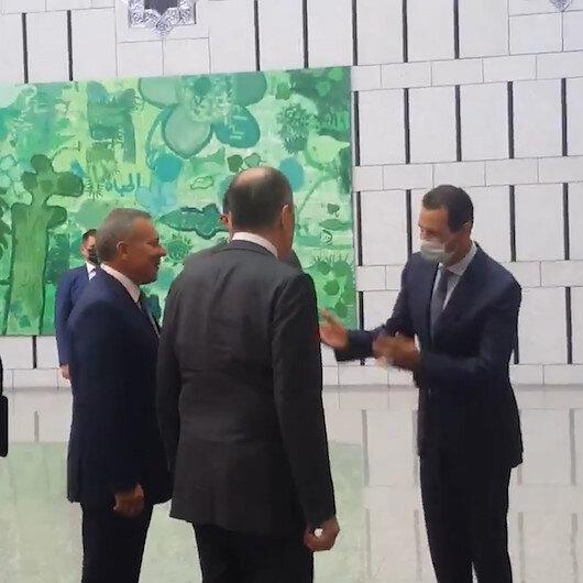 Esed Rusya Dışişleri Bakanı Lavrovu el pençe divan karşıladı