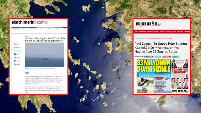 Yunan basınında Oruç Reis paniği: Yeni Şafak'ın manşetinden öğrendiler