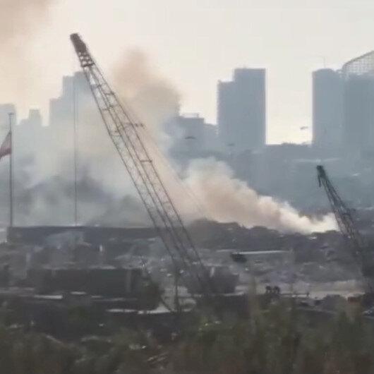 Beyrut Limanında korkutan yangın