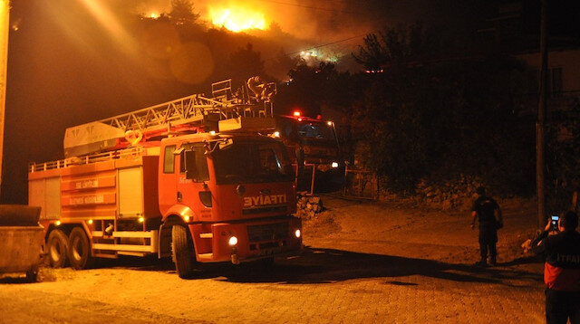 Manisa Soma'daki orman yangını kontrol altına alındı