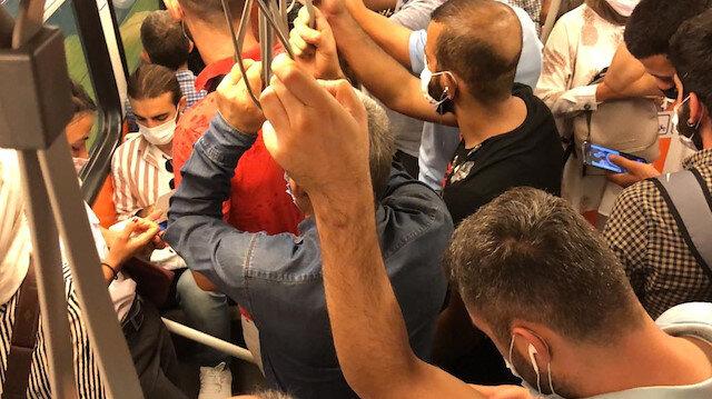 İstanbul'da manzara değişmedi: Metrobüste metroda sırt sırta yolculuk