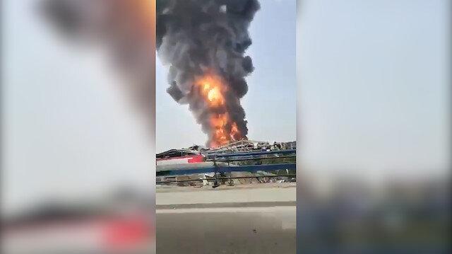 Beyrut Limanı'nda bir yangın daha çıktı