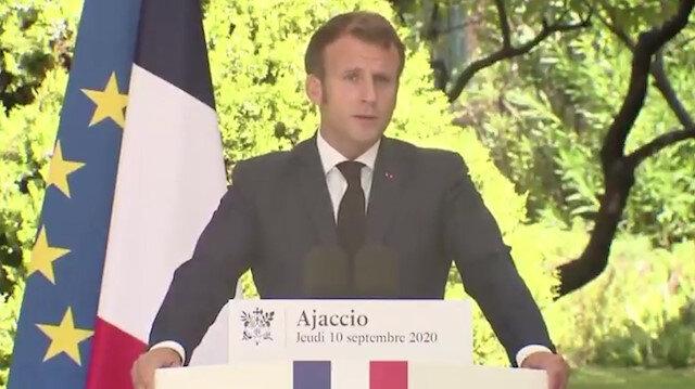 Macron: Kıbrıs'ta arama yapıp Libya ile anlaşma imzalıyorlar, Türk halkına değil Erdoğan'a karşıyız