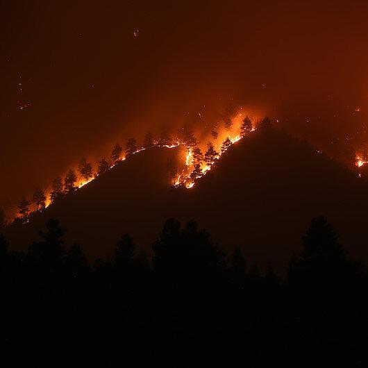 Adana Pozantıdaki orman yangını devam ediyor