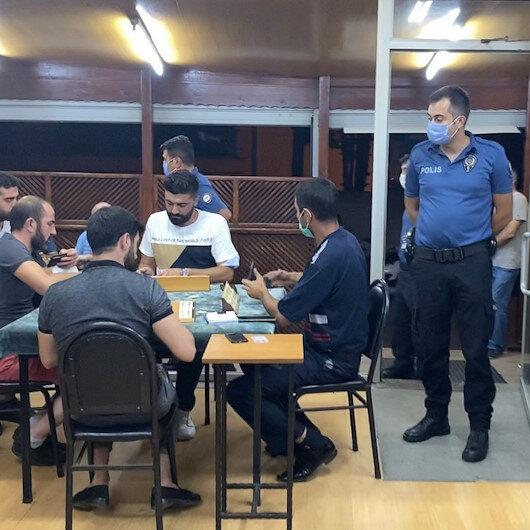 Kahvehanedeki 25 kişiye 78 bin 750 lira para cezası kesildi