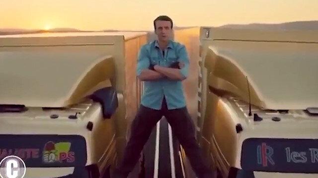 Akdeniz'de gerilimi tırmandıran Macron ülkesinde kurgu videoyla alay konusu oldu