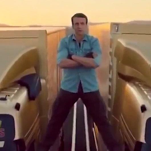 Akdenizde gerilimi tırmandıran Macron ülkesinde kurgu videoyla alay konusu oldu