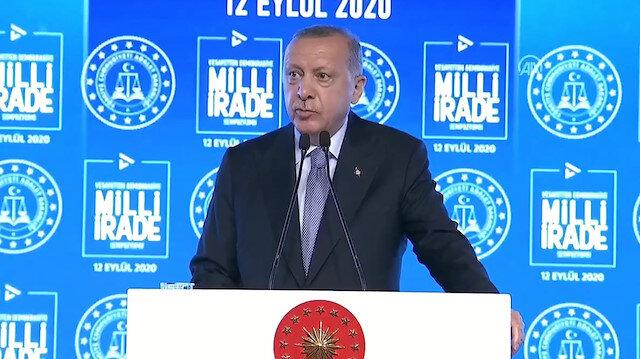Cumhurbaşkanı Erdoğan: Hiçbir darbe masum değildir