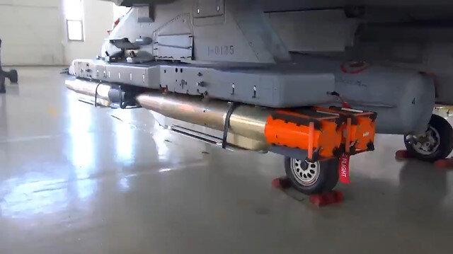 145 kiloluk beton delici minyatür bombalar F-16 ve İHA kanatlarına entegre edilebilecek