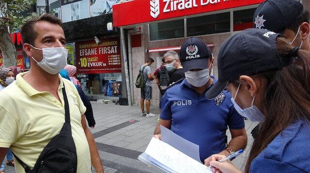 Maske takmayan vatandaştan polise tepki: Senin ismini öğreneceğim ben