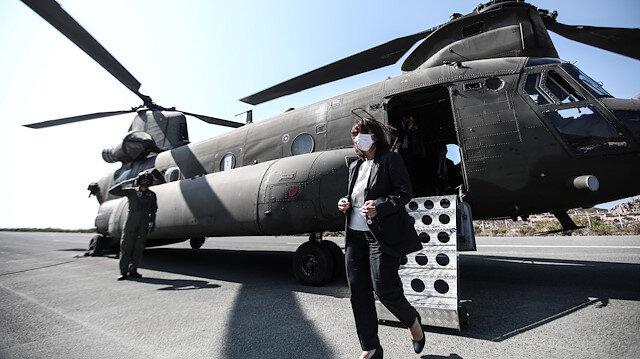 Dikkat çeken ziyaret: Yunanistan Cumhurbaşkanı Katerina Sakelaropulu Meis Adası'nda