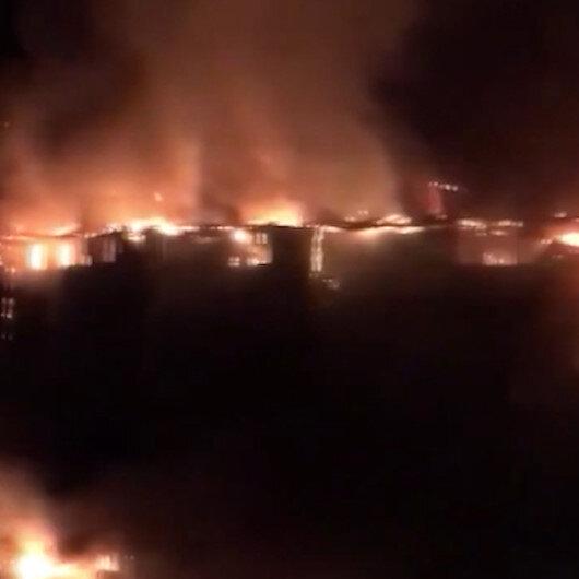 Rusyada dev yangın: 88 daire hasar gördü