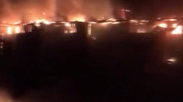 Rusya'da dev yangın: 88 daire hasar gördü