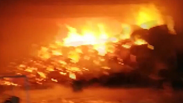 Kahramanmaraş'ta fabrika yangın