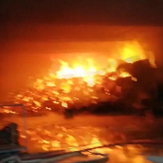 Kahramanmaraşta fabrika yangın