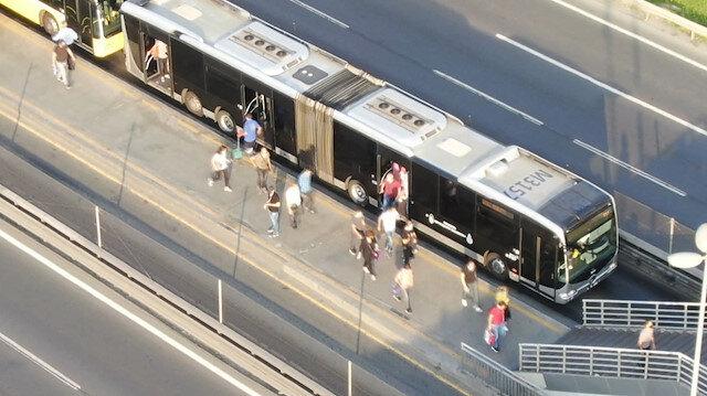 İstanbul'da ulaşım araçlarının yoğunluğu böyle görüntülendi