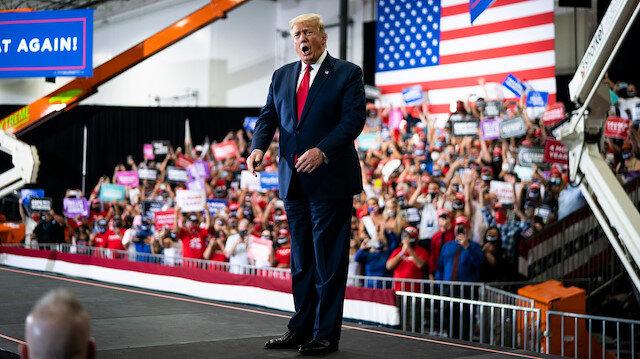 Trump mitingde konuştu: 4 yıl seçileceğiz, belki bir 4 yıl daha isteriz