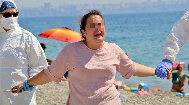 Antalya'da akılalmaz anlar: Karantinayı deldi, sahilde 'ölmek istemiyorum' diye bağırarak etrafa tükürdü