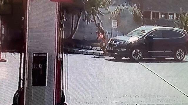 Akaryakıt istasyonunda dehşet anları: Benzin döküp kendini yakan şahsı çalışanlar kurtardı