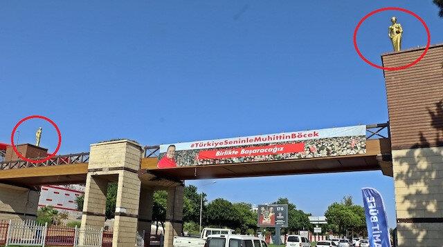 CHP'li belediye Antalya'da düzenlenecek Altın Portakal Film Festivali'ne özel 57 heykel dikti