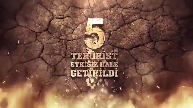 Siirtin Tandır Dağı bölgesinde 5 terörist etkisiz hale getirildi