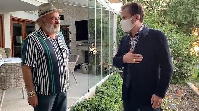 Tuzla Belediye Başkanı Şadi Yazıcıdan Halil Sezainin darp ettiği yaşlı adama ziyaret