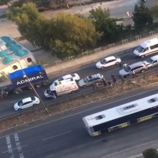Bursada zincirleme kaza meydana geldi: Yedi araç birbirine girdi