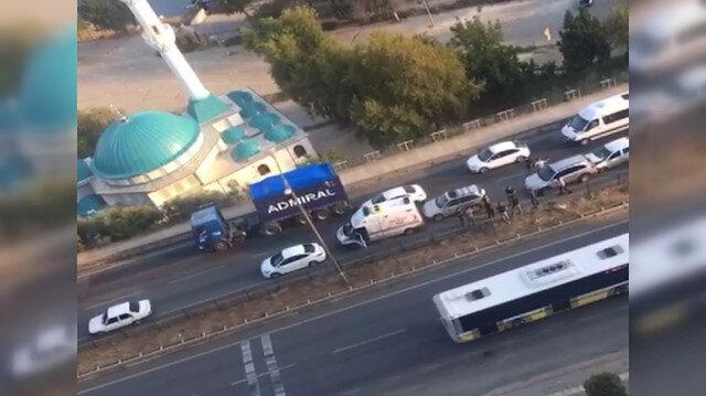 Bursa'da zincirleme kaza meydana geldi: Yedi araç birbirine girdi