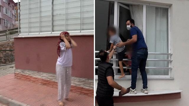 Korku dolu anlar: Ev sahibi kadınla karşılaşan hırsız, çığlıklar üzerine kıskıvrak yakalandı