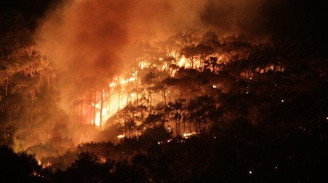 Ayvalık'ta yangın hala kontrol altına alınamadı: Yazlık konutlara doğru ilerliyor