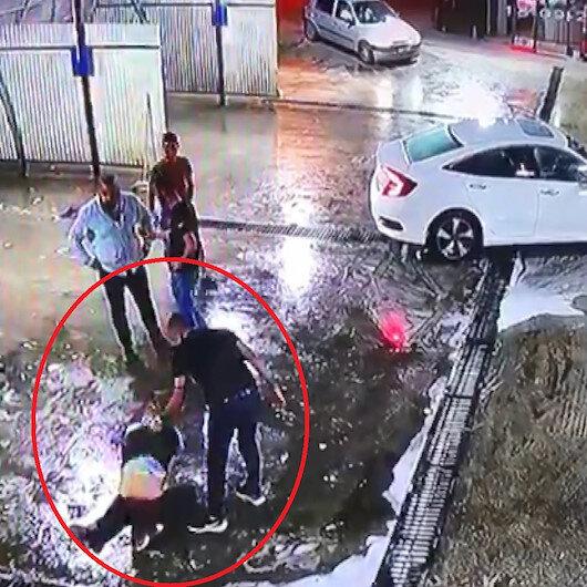 Yerden yere vurdukları adamı dövdükten sonra araca koyup kaçırdılar