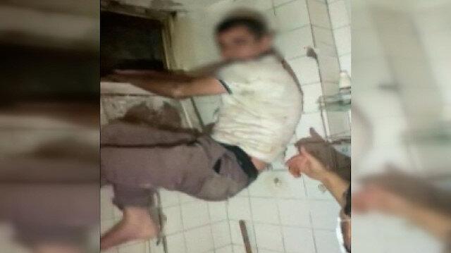 Tuvalet penceresinden kaçmak isteyen hırsız kıskıvrak yakalandı