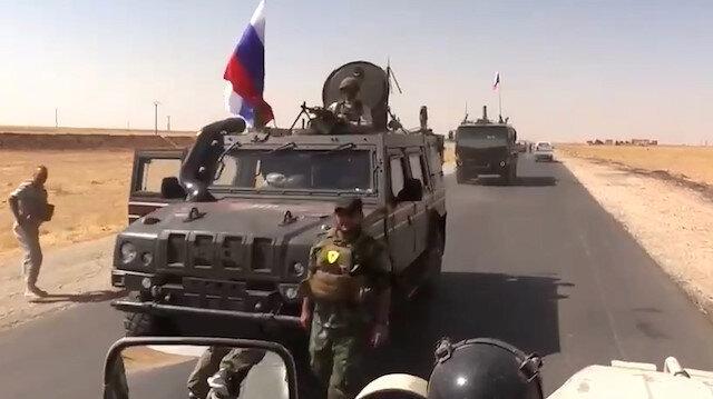 PYD'li terörist Rus zırhlısından inerken görüntülendi