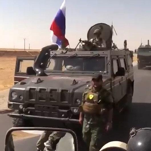 PYDli terörist Rus zırhlısından inerken görüntülendi