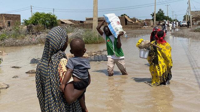 İHH'dan Sudan'da sel mağdurlarına destek