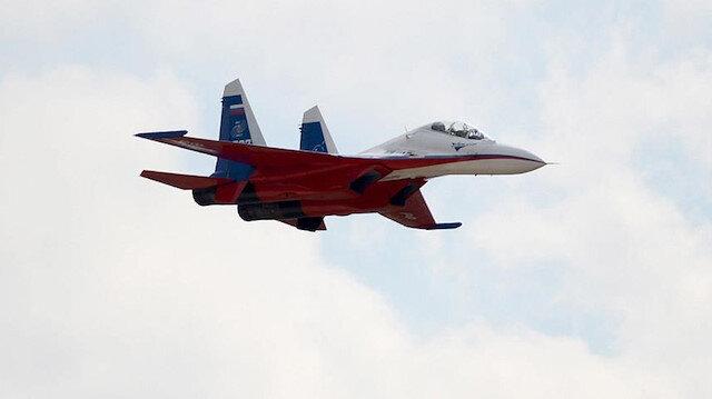 Rusya'da Su-30 savaş uçağı eğitim uçuşu sırasında düştü