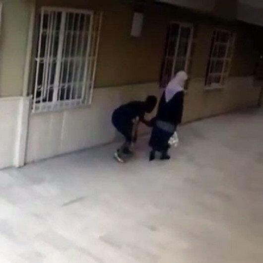 Küçükçekmecede kapkaççı yaşlı kadının cüzdanını böyle çaldı