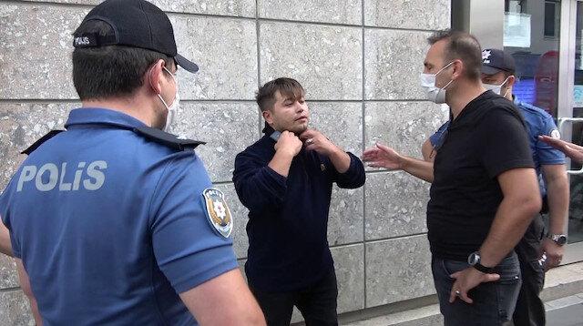 Tuzla'da maske takmayan şahıstan polise tehdit: O zaman görüşürüz