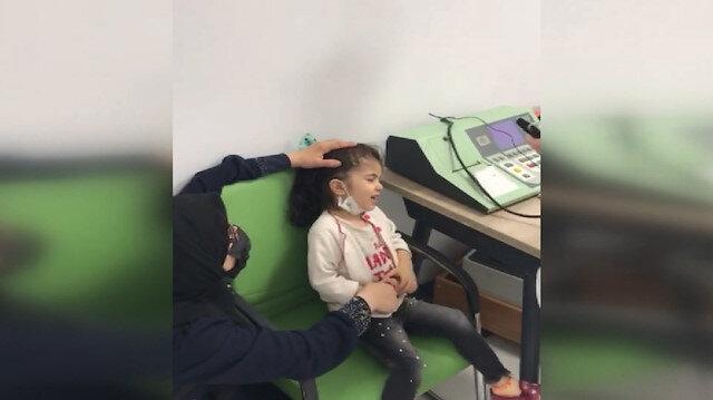 Cumhurbaşkanı Erdoğan, 10 yaşında ilk kez duyan Fatma'nın işitme engelli kardeşi Sara için talimatı verdi