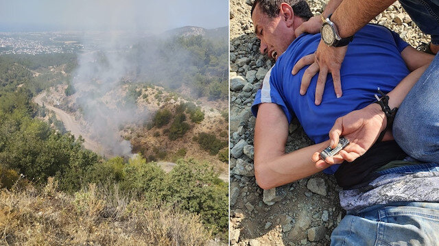 Hatay'da ormanlık alanda 8 noktayı ateşe verdiği iddiasıyla gözaltına alınan şahıs tutuklandı
