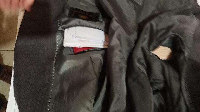 Unutulan ceketin içinden 5 bin 500 TL para çıktı