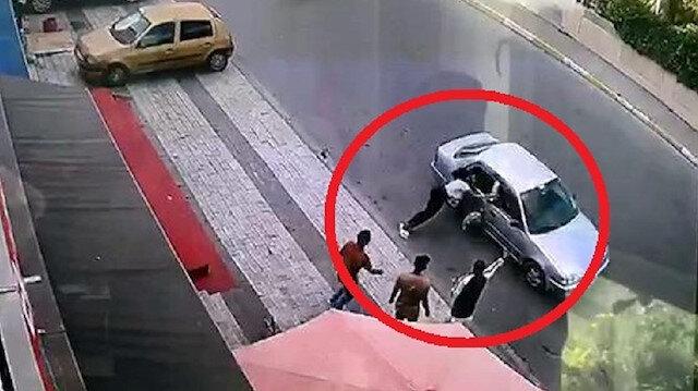 Böyle vicdansızlık olmaz: Çantasını aldıkları kadını otomobille sürükledi