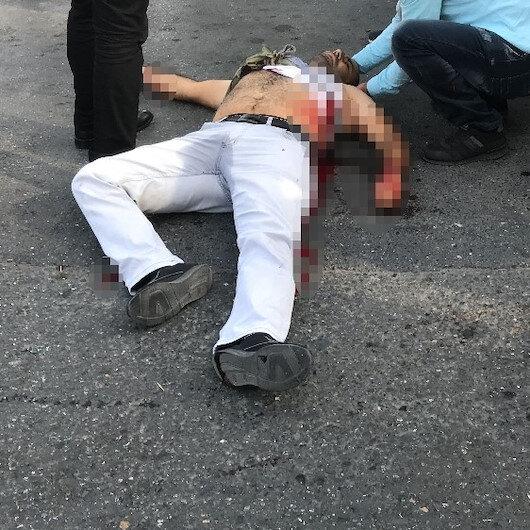 Esenyurt savaş alanı: Pompalıyla 2 kişinin ağır yaralandğıı dehşet anları kamerada