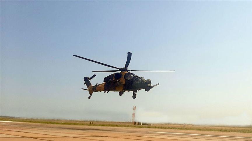 TurAz Kartalı Tatbikatı'nda ATAK helikopterleri de yer aldı.