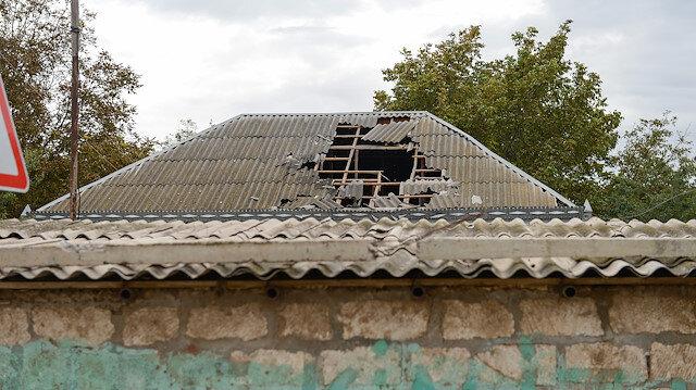 Ermeni işgalciler Azerbaycanlı sivillerin evlerini vurdu