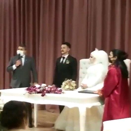 Trabzon Emniyet Müdürü Metin Alper, Özel Harekatçı polisin nikahında konuştu: Bizi ne zaman Karabağa gönderecekler diye bekliyorlar