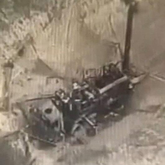 Azerbaycana ait kamikaze droneleri Ermenilerin askeri araçlarını böyle imha etti