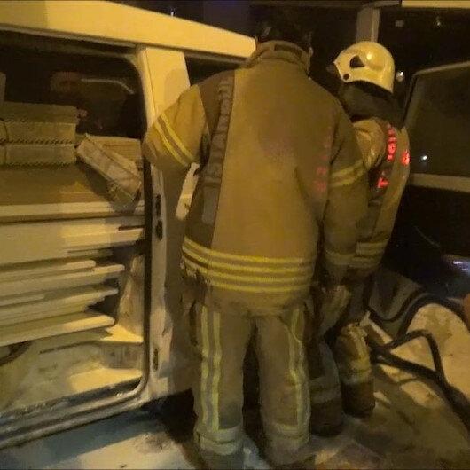 Silivride panelvanda çıkan yangını vatandaşlar söndürdü
